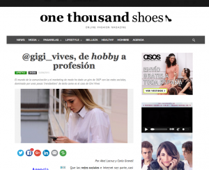 Entrevista a la blogger e influencer Gigi Vives en One Thousand Shoes